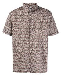 Camisa de manga corta de paisley marrón de A.P.C.
