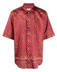 Camisa de manga corta de paisley roja de Etro