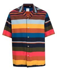 Camisa de manga corta de rayas horizontales en multicolor de Paul Smith