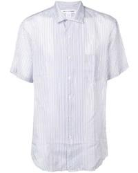 Camisa de manga corta de rayas verticales blanca de Comme Des Garcons SHIRT
