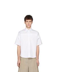 Camisa de manga corta de rayas verticales blanca de Maison Margiela