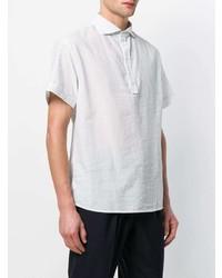 Camisa de manga corta de rayas verticales blanca de Barena