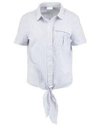Camisa de manga corta de rayas verticales blanca de Vila