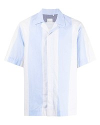Camisa de manga corta de rayas verticales celeste de Paul Smith