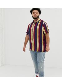 Camisa de manga corta de rayas verticales en multicolor de ASOS DESIGN