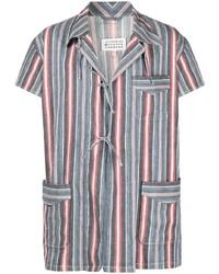 Camisa de manga corta de rayas verticales en multicolor de Maison Margiela