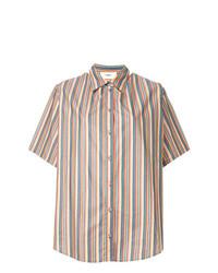 Camisa de manga corta de rayas verticales en multicolor de Ports 1961