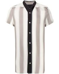 Camisa de manga corta de rayas verticales gris de Rick Owens