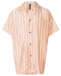 Camisa de manga corta de rayas verticales naranja de Astrid Andersen