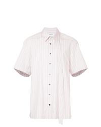 Camisa de manga corta de rayas verticales rosada de Ambush