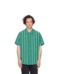 Camisa de manga corta de rayas verticales verde de Goodfight