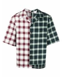 Camisa de manga corta de tartán en multicolor de Lanvin