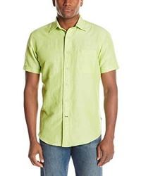 Camisa de manga corta en amarillo verdoso