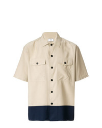 Camisa de manga corta en beige de AMI Alexandre Mattiussi