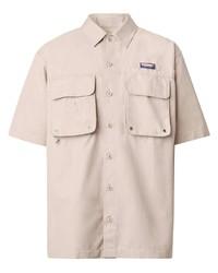 Camisa de manga corta en beige de Burberry
