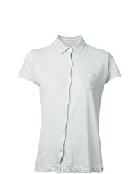 Camisa de manga corta en beige de Massimo Alba