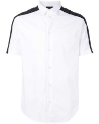Camisa de manga corta en blanco y negro de Emporio Armani
