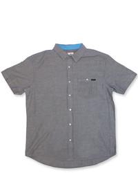 Camisa de manga corta en gris oscuro
