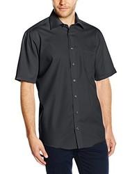Camisa de manga corta en gris oscuro de Casamoda