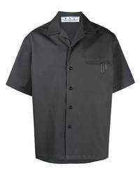 Camisa de manga corta en gris oscuro de Off-White