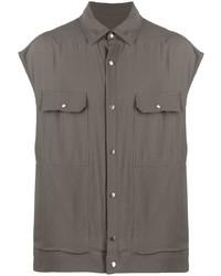 Camisa de manga corta en gris oscuro de Rick Owens