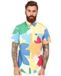 Camisa de manga corta en multicolor