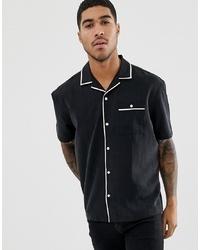 Camisa de manga corta en negro y blanco de ASOS DESIGN