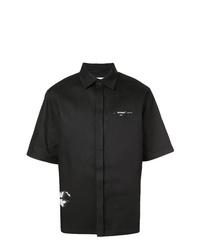 Camisa de manga corta en negro y blanco de Off-White