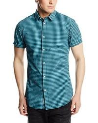 Camisa de manga corta en verde azulado de Jack & Jones