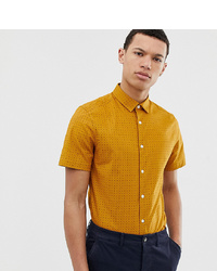 Camisa de manga corta estampada amarilla de ASOS DESIGN