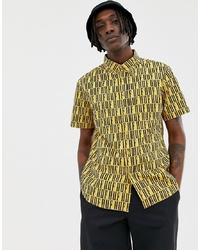 Camisa de manga corta estampada amarilla de HUF