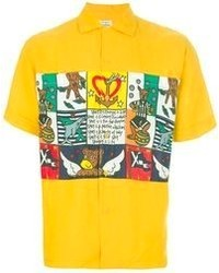 Camisa de manga corta estampada amarilla de JC de CASTELBAJAC