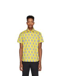 Camisa de manga corta estampada amarilla de Kenzo