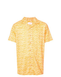 Camisa de manga corta estampada amarilla de Onia