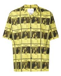 Camisa de manga corta estampada amarilla de Yoshiokubo