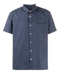 Camisa de manga corta estampada azul marino de A.P.C.
