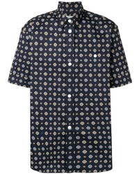 Camisa de manga corta estampada azul marino de Kenzo