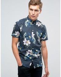 Camisa de manga corta estampada azul de Minimum