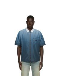 Camisa de manga corta estampada azul de Off-White