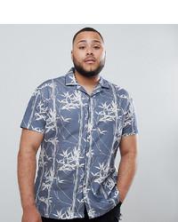 Camisa de manga corta estampada azul de Twisted Tailor