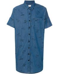Camisa de manga corta estampada azul de Vans