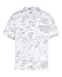Camisa de manga corta estampada blanca de Kenzo