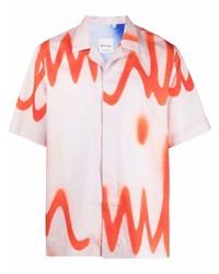 Camisa de manga corta estampada blanca de Paul Smith