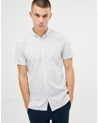 Camisa de manga corta estampada blanca de Tom Tailor