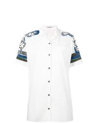 Camisa de manga corta estampada blanca de Tomas Maier