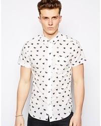 Camisa de manga corta estampada blanca de Wrangler