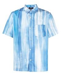 Camisa de manga corta estampada celeste de A.P.C.