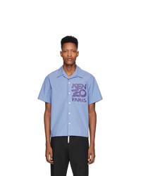 Camisa de manga corta estampada celeste de Kenzo