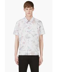Camisa de manga corta estampada celeste de Paul Smith