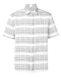 Camisa de manga corta estampada en blanco y negro de Chalayan